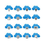 Cloud computing technology icon Royalty Free Stock Image