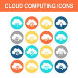 Cloud computing technology icon Stock Images