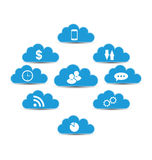 Cloud computing and technology, infographic design Stock Images