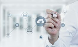Cloud Computing Technology Internet Storage Network Concept.  Stock Photography