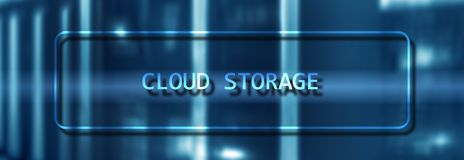 Cloud Computing Technology Internet Storage Network Concept on blurred supercomputer server room royalty free stock image