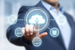 Cloud Computing Technology Internet Storage Network Concept.  Royalty Free Stock Image