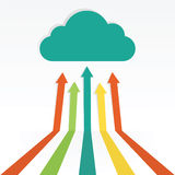 Cloud computing technology Stock Image