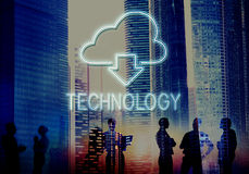 Cloud Computing Technology Networking Download Concept. Business People Talks Cloud Computing Technology Networking Download Stock Images