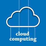 Cloud computing template Royalty Free Stock Photo