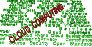Cloud computing terminologies Stock Photo