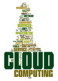 Cloud computing text cloud Royalty Free Stock Image