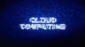 Cloud Computing-Text-Digital-Geräusch-Zuckungs-Störschub-Verzerrungs-Effekt-Fehler-Animation vektor abbildung