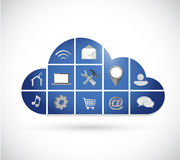 Cloud computing tool icons illustration design Stock Photography