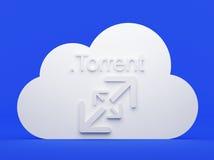 Cloud computing, torrent Royalty Free Stock Photo