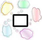 Cloud computing and touch pad concept Royalty Free Stock Photography