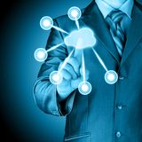 Cloud computing touchscreen interface Stock Photography