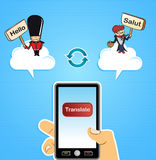 Cloud computing translate concept Royalty Free Stock Image