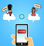 Cloud computing translate concept Royalty Free Stock Photo