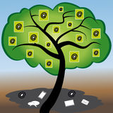 Cloud Computing tree. With ats Royalty Free Stock Photography