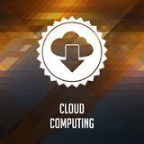 Cloud Computing on Triangle Background. Stock Photos