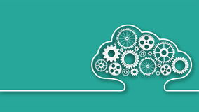 Cloud computing UHD stock video footage