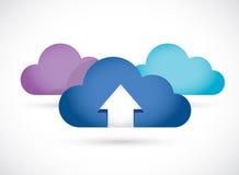 Cloud computing up arrow illustration design Stock Image