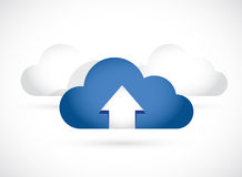 Cloud computing up arrow illustration design Royalty Free Stock Photography