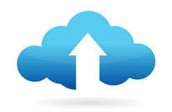 Cloud computing upload vector illustration