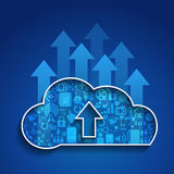 Cloud Computing-Upload cloud social network. Stock Images
