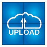 Cloud computing. Upload data. Royalty Free Stock Images