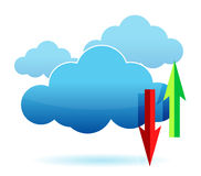 Cloud computing upload, download Stock Photography