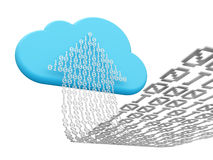 Cloud computing and uploading Stock Photography