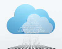 Cloud computing, uploading Stock Image