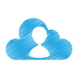 Cloud computing with user silhouette. Vector illustration design Royalty Free Stock Photo