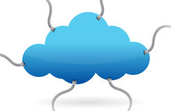 Cloud computing various connections Stock Images