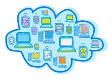 Cloud Computing Vector Royalty Free Stock Photos