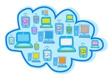 Cloud Computing Vector. Illustration design Royalty Free Stock Photos