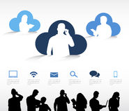 Cloud Computing Vector. The vector of cloud computing vector illustration
