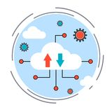 Cloud computing vector concept Stock Photography