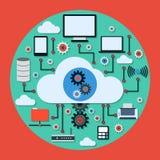 Cloud computing vector concept Stock Photos