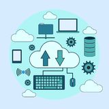 Cloud computing vector concept Royalty Free Stock Photography