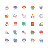 Cloud Computing Vector Icons 2 Royalty Free Stock Photos