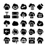 Cloud Computing Vector Icons 5 Stock Images