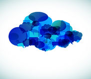 Cloud computing - vector illustration Royalty Free Stock Photos