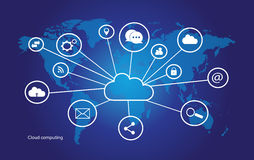 Cloud computing vector Royalty Free Stock Image