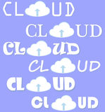 Cloud computing vector set Stock Photo