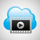 Cloud computing video player movie Royalty Free Stock Image