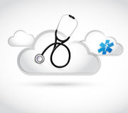 Cloud computing virus concept illustration Stock Photo