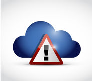 Cloud computing warning illustration Stock Photos