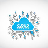 Cloud computing web concept Stock Image