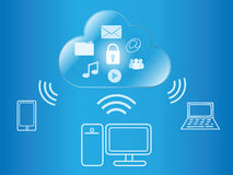 Cloud computing wireless access Royalty Free Stock Photography