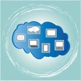 Cloud Computing. Witn blue blackground Stock Photos