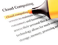Cloud computing word Royalty Free Stock Photos