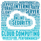 Cloud computing word cloud concept Royalty Free Stock Photography